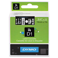 """DYMO D1 High-Performance Polyester Removable Label Tape 3/4"""" x 23 ft White on"""