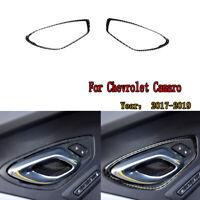 Carbon Fiber Car Door Handle Frame Trim Decoration For Chevrolet Camaro 2017-19