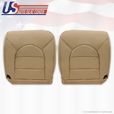 99 Ford F350 Lariat Driver & Passenger Bottom Replacement Leather Seat Cover Tan