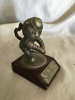 Games Of The XXIVth Olympiad Seoul Korea 1988 Pewter Statuette Tennis