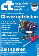 c't Magazin, Heft 15/2016 vom 9.7.2016: Clever aufrüsten  +++ wie neu +++