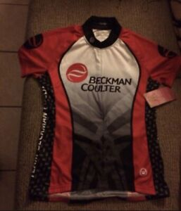 Cycling Jersey Womens Small Red and black