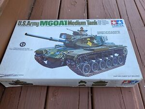 Vintage Military Tamiya 1/35 M60A1 U.S. Army Medium Tank Model Kit