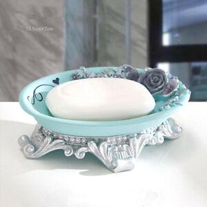 Light Blue Toilet Soap Box Creative Practical Handmade Resin Soap Dish Holder