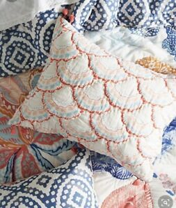 ANTHROPOLOGIE CARSAMBRA SINGLE KING SHAM WITH TASSELED CORNERS