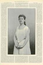 1891 Antique Print - FINE ART Miss Eames Juliette Romeo Lady Theatre (119)