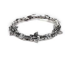 Ladies Butterfly Bracelet Antik-Silber-Farben Rhinestones Ca 19cm 54627
