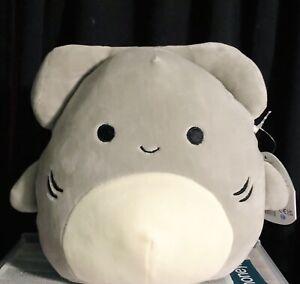 "NWT Squishmallows Kellytoy Summer 8"" TANK Grey Hammerhead Shark Sea Life"