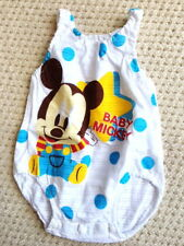 Baby Clothing Baby Mickey romper one Singlet piece new born to 6 months Blue