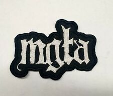 MGLA Patch Iron/Sew-on Embroidered Black Metal