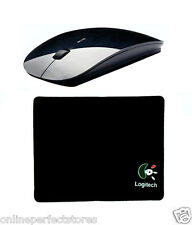 100% Black Original Slim Wireless Mouse 2.4 GHz with 1 Pcs Logitech Mouse Pad