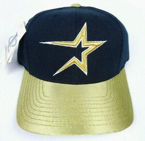 HOUSTON ASTROS MLB VINTAGE 1990s RETRO LOGO 2-TONE CAP HAT SNAPBACK NWT! RARE!