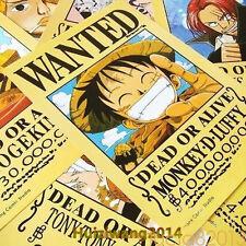 One Piece Wanted Poster 11pcs nami sanji zoro luffy Hat Pirates Ace Robi 42x29cm