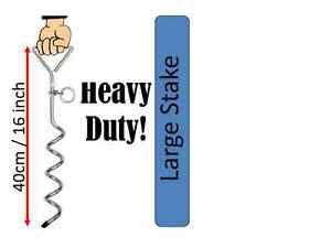 PET DOG LEAD TIE OUT GROUND SCREW STAKE ANCHOR SPIKE