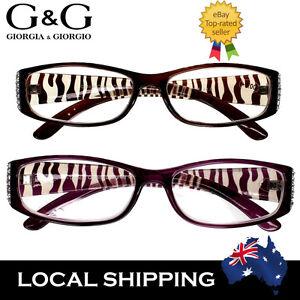 Women Reading Glasses Fashion Animal Print Tiger Purple 1.0 1.5 2.0 2.5 3.0 3.5