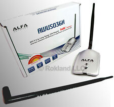 Alfa AWUS036H 1000mW USB Wireless kit deal, + 9 dBi ANTENNA, CLIP & CUP MOUNT