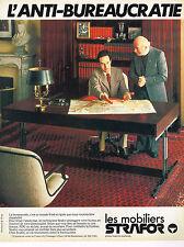 PUBLICITE ADVERTISING 014  1978   STRAFOR  mobilier de bureau