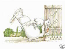 "Sue Rupp Bunny ""Hare Removal"" s/n lim ed. pr"