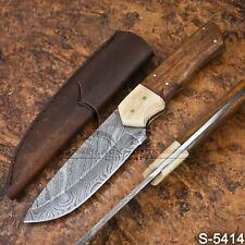 5414 | Wazirabad's Damascus Steel Skinner/Hunter/Bush Craft knife W/Sheath