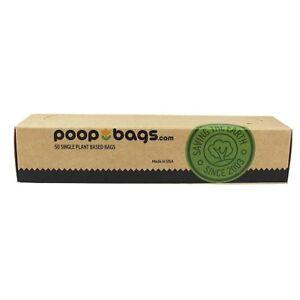 The Original PoopBags 50ct ASTM D6400 Compostable Biobased Dog Waste / Poop Bags