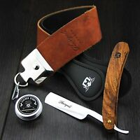 Leather Paste Strop Strap for Straight Razor Sharpening,Cut Throat Razor