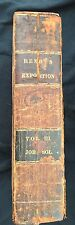 Leather Vintage Book 1831 Henry's Exposition Old Testament Bible Vol III