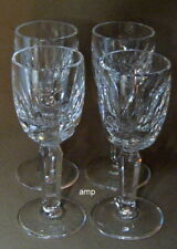 "Waterford Kildare Lot of 4 Cordial Glasses 3 7/8"" PERFECT!"