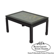 Chinoiserie Painted Black & Gold Asian Style Coffee Table