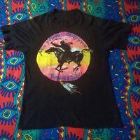 Vtg Rare NEIL YOUNG CRAZY HORSE Ragged Glory Rare 1991 Tour Black T-shirt Gildan