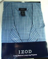 IZOD Blue PLAID Cotton Summer PJs PAJAMAS Set Mens size XL NWT NEW