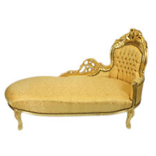 FRANCE BAROQUE STYLE CHAISE LOUNGE GOLD / GOLD # F8MB2.00