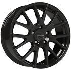 "4-Vision 18 Hellion 17x7.5 5x4.5"" +40mm Gloss Black Wheels Rims 17"" Inch"