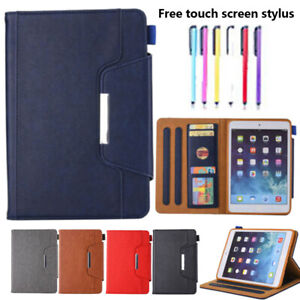 For iPad Mini 1 2 3 4 Air 2 Pro 9.7 2018 Leather Tablet Stand Flip Cover Case