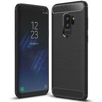 Hülle Carbon für Samsung Galaxy S9 Plus Schutzhülle Handy Case Hybrid TPU Cover
