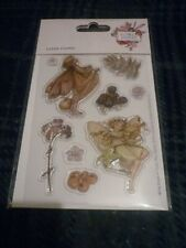 SHEET OF CICELY MARY BARKER FLOWER FAIRIES CLEAR STAMPS (9) NEW FACTORY SEALED
