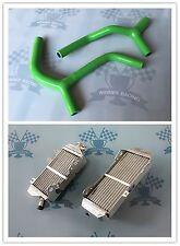 Fit Kawasaki KX450F KX 450 F KXF450 2016 17 18 aluminum radiator + silicone hose