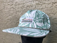 Patagonia Pataloha Stand Up Hat Cap Green White Leaves Snapback 38100