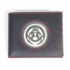 Super Mario Bros. Retro Mario Patch Bi-fold Wallet Male Black (MW484845NTN)