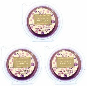 3 PACKS Bath & Body Works LAVENDER VANILLA Fragrance Wax Melts Tarts Scent