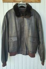 Vintage Leather Flight Jacket with Blood Chit