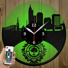LED Vinyl Clock Raleigh LED Wall Art Decor Clock Original Gift 5763