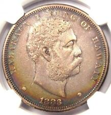 1883 Hawaii Dollar $1 - NGC AU Details - Rare Certified Silver Coin