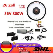36V 800W Hinterrad Elektrofahrrad Umbausatz LCD E-Bike Conversion Kit 26 Zoll