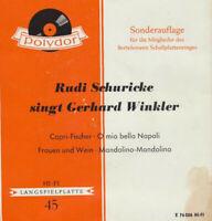 "Rudi Schuricke Rudi Schuricke Singt Gerhar 7"" EP Club Vinyl Schallplatte 50038"