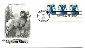 US Scott #4140, First Day Cover 5/21/07 Washington Plate #S111111 Coil of 3