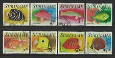 1975 Suriname Stamps Fish SG 822/29 Set 8 FU
