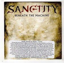 (FW907) Sanctity, Beneath The Machine - 2007 DJ CD