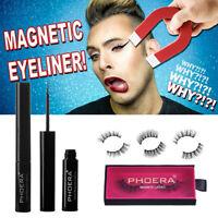 New Phoera Magnetic Liquid Eyeliner Gel False Eyelashes 3D Eye Lashes Makeup Set