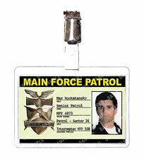 Mad Max Main Force Control ID Badge Card Cosplay Film Prop Comic Con Halloween