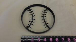 """Baseball Black Metal Iron Wall Hanging 6 1/2"""""""
